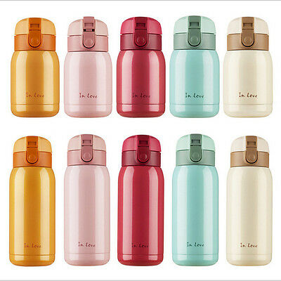 NEW Vacuum Mug Bounce Cap Thermos Stainless Steel Hot Water Bottle Travel Cup