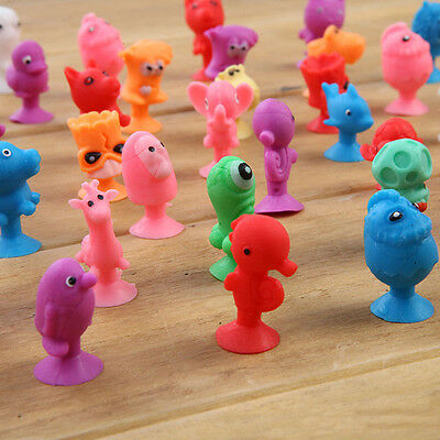 10pcs Mini Animal Action Figure Sucker Cup Cartoon Monster Child Kids Toys Gift