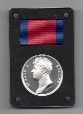 The Waterloo 200Th Anniversary Medal In Silver. With Waterloo Booklet.