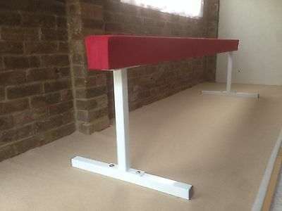 "finest quality gymnastics gym balance beam 8FT long 24"" high choice of colours"