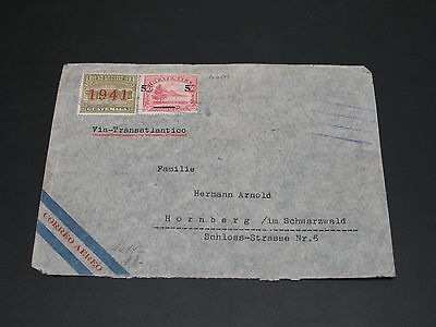 Guatemala 1940s censored airmail cover to germany *6607