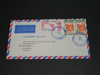 Guatemala 1970 airmail cover to germany *6619