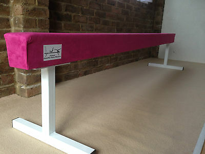"finest quality HOT PINK gymnastics gym balance beam 8FT long 18"" high HOT PINK"