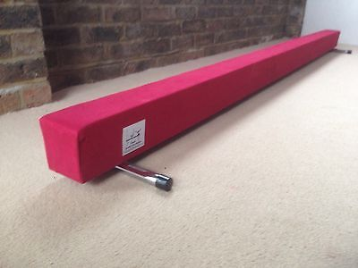 finest quality gymnastics gym balance beam  8FT long red reduced bargain
