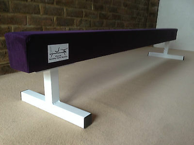 "finest quality PURPLE gymnastics gym balance beam 6FT long 12"" high PURPLE"