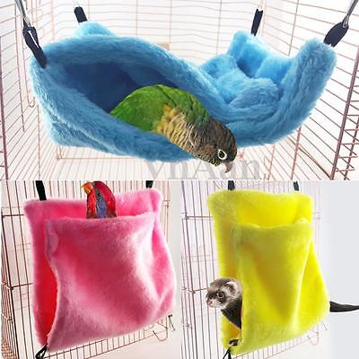 Pet Hammock Hamster Ferret Parrot Cage Squirrel Nest Hanging Bed Tent Hut Toy