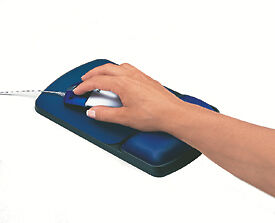 NEW! Fellowes 98741 Gel Wrist Rest and Mousepad