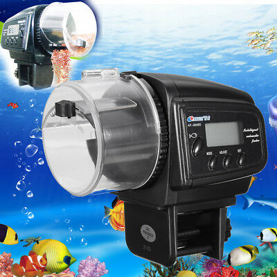 Auto LCD Digital Mini Aquarium Fish Food Feeder Feeding Time Timer for Fish Tank