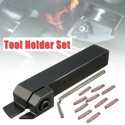 10pcs MGMN200 Inserts W/ 16mm Parting Off Lathe Turning Tool Holder MGEHR1616-2