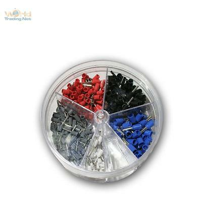 Assorted Wire ferrules in Powder dispenser,insulated,for 0,5 2,5 mm² Braid,Set