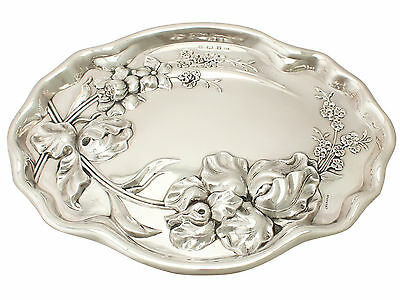 Antique George V Sterling Silver Dressing Table Tray