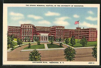 AK Rochester, NY, Crittenden Boulevard, The Strong Memorial Hospital of the Uni