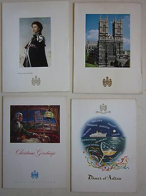 1965-67 R.M.S. ARAGON lot 4 Chritmas -Farewell dinner menù card ROYAL MAIL LINES
