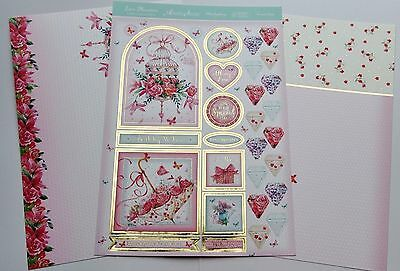 Hunkydory 3 A4 Summer Days Foiled Toppers & Card Kit Blossoms