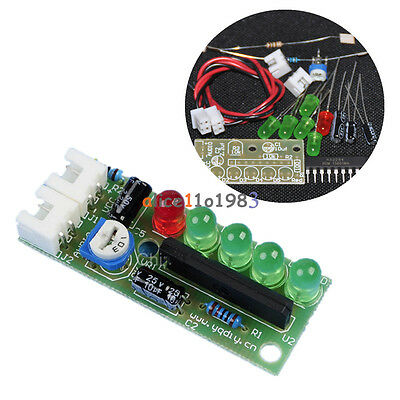 KA2284 Audio Level Indicator DIY Electronic Kit Parts 5mm RED Green LED 3.5-12V
