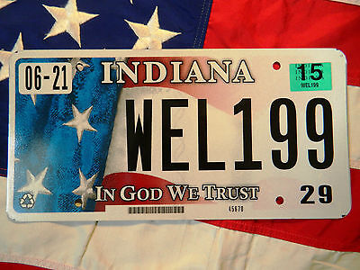 INDIANA license licence plate plates USA NUMBER AMERICAN REGISTRATION