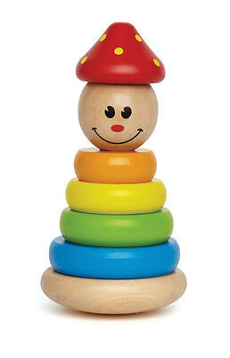 E0400 HAPE Clown Stacker Wooden Colour [Early Melodies] Baby Toddler Child  12M+