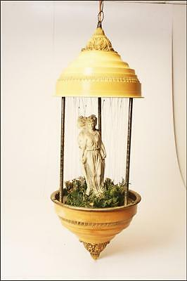 Vintage MINERAL OIL RAIN SWAG LAMP drop drip motion hanging white ceiling light