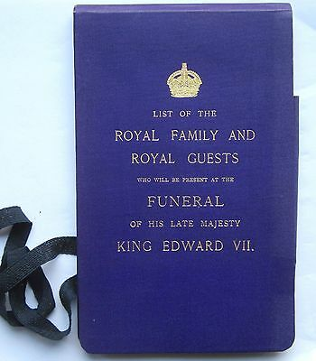 1910 King Edward Vii Funeral List Of Royal Family And Royal Guests Present