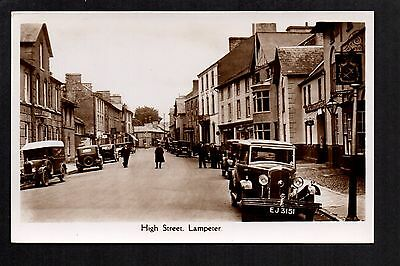 Lampeter - High Street - real photographic postcard