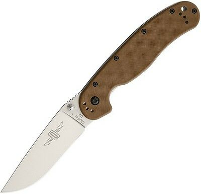 "Ontario ON8867CB Rat 1 Linerlock 5"" Folding Knife Coyote Brown Handle Folder"
