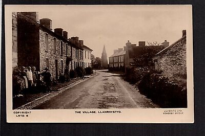 Llanrhystyd - The Village - real photographic postcard