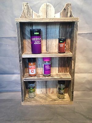 hand made rustic spice rack, shabby chic, country house made from pallet wood.