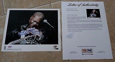 BB King Blues Live Signed Autographed 8x10 Photo PSA Certified
