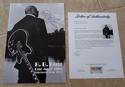 BB King 2009 Tour Book Program Signed Autographed PSA Certified