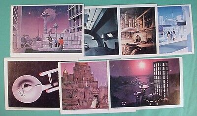 Star Trek, The Original Series, 7 Postcards, 1977