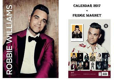 Robbie Williams Official Calendar 2017 + Robbie Fridge Magnet