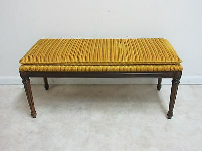 Vintage French Regency Carved Long Window Bench Stool Ottoman