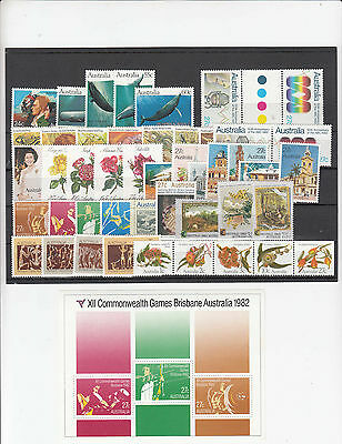1982 year collection.46 stamps + 1 Miniature sheet.MNH / cheap