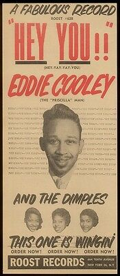 1957 Eddie Cooley and the Dimples photo Hey You! Roost Records trade print ad