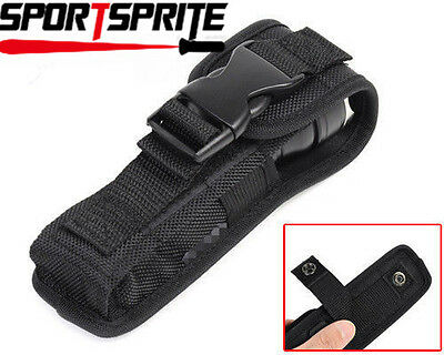 17x4x2cm Small Size Flashlight Pouch/Holster + Buckle for Torch Belt Black