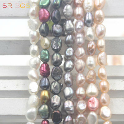 """Natural Small 5x7mm Freeform Baroque Freshwater Pearl Seed Beads Strand 15"""""""