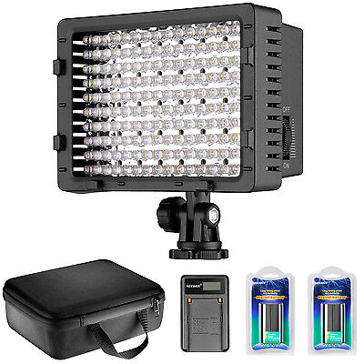 Neewer CN-160 LED Dimmable Ultra High Power Panel Video Light Kit