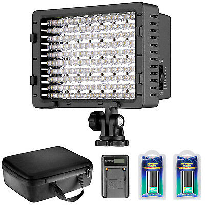 Neewer CN-160 LED Dimmable Video Light Kit with Battery / Charger / Case