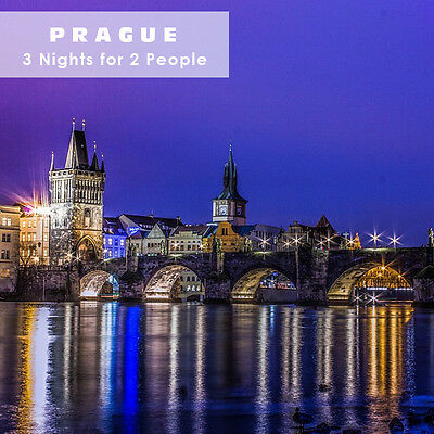 City trip Prague Voucher 3nights 2people in DR with breakfast + 1x Dinner