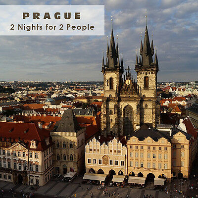 Short trip Prague Voucher 2nights 2people in DR with breakfast + 1x Dinner