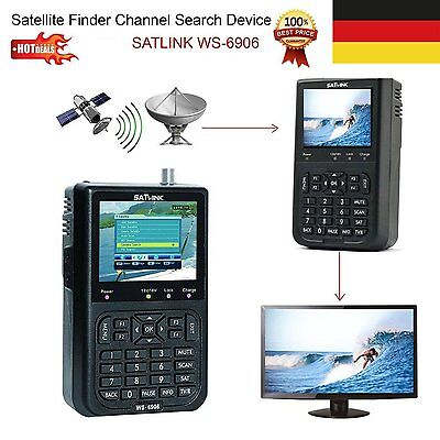 "Satlink WS 6906 DVB S Digital Satellite Signal Finder SAT 3.5"" LCD HD DHL"