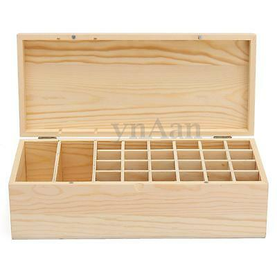 26 Grids Compartments Wooden Storage Tea Box Case Chest Spice Container Caddy