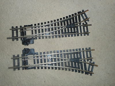 R612 / R613 Nickel Silver Left & Right Points for Hornby OO Gauge Train Sets