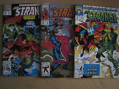 DR. STRANGE Vol 1 #s 38,39,40 The GREAT FEAR :complete 3 ISSUE STORY.MARVEL 1992