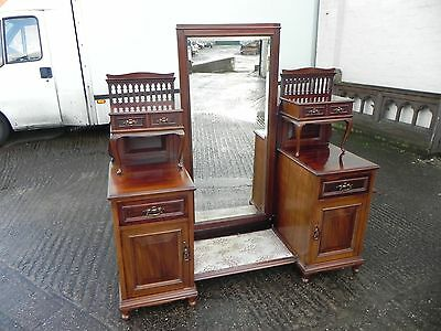 Stunning Edwardian Mahogany Dressing Table with Full Length Mirror C.1910