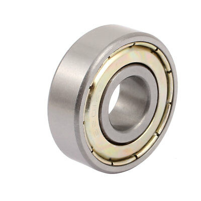 Metal Deep Groove Sealed Shielded Ball Bearing 12mmx32mmx10mm Silver Tone