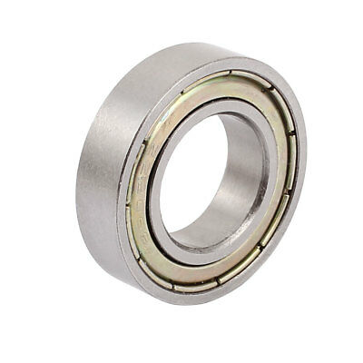Metal Deep Groove Sealed Shielded Ball Bearing 15mmx28mmx7mm Silver Tone