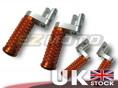OR Round Front & Rear Adjustable Foot Pegs Rests Custom fit Kawasaki Z750S 06-08