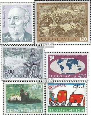 Yugoslavia 1647,1648,1655,1663, 1664-1665 (complete issue) unmounted mint / neve