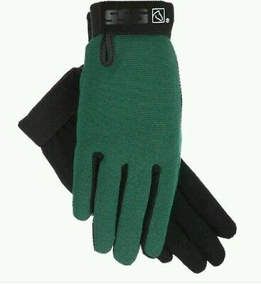 ssg All weather hunter green   riding gloves